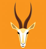Vector image of an gazelle head Royalty Free Stock Image