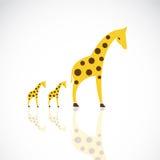 Vector image of an giraffe design Stock Image