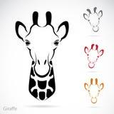 Vector image of an giraffe head Stock Photos