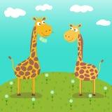 Vector image of giraffes. royalty free illustration
