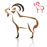 Vector image of an goat Stock Photo