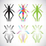 Vector image of an grasshoppers Royalty Free Stock Photo