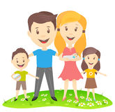 Vector image of a happy family. Royalty Free Stock Photography