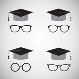 Vector image of an hat and glasses. Stock Images