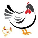 Vector image of an hen. On white background Stock Photography