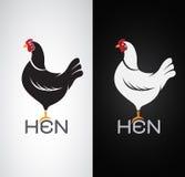 Vector image of an hen design Stock Photography