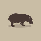 Vector image of an hippopotamus Stock Photo