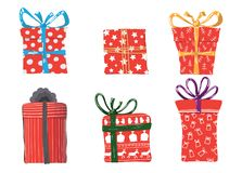 Vector image of holiday gifts royalty free illustration