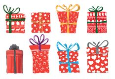 Vector image of holiday gifts vector illustration
