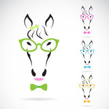 Vector image of a horse glasses on white background. Royalty Free Stock Image