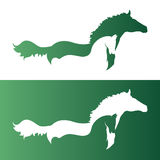 Vector image of an horse. Royalty Free Stock Photography