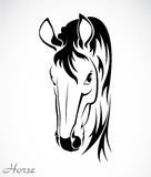 Vector image of an horse Stock Photography