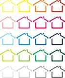 The vector image of the house Stock Photography