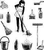 Pictures on the theme of cleaning Stock Photo