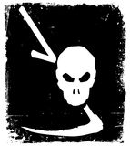 Vector image of human skull Stock Photography
