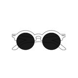 The vector image. Icon summer sunglasses Stock Photography