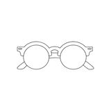 The vector image. Icon summer sunglasses Royalty Free Stock Photos