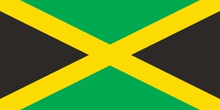 Vector Image of Jamaica Flag, Illustration royalty free illustration
