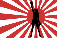 Vector image of the Japanese flag. Stock Photo