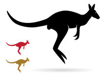 Vector image of an kangaroo Stock Image