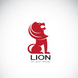 Vector image of an lion design Royalty Free Stock Photo