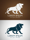 Vector image of an lion design Stock Photography
