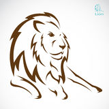 Vector image of an lion Royalty Free Stock Images