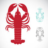 Vector image of an lobster Stock Images