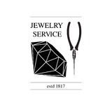 Vector image of logo jewelry service. Trendy concept for repair shop or maintenance of jewelry products. Vector image of logo jewelry service. Trendy concept for Royalty Free Stock Photo