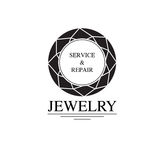 Vector image of logo jewelry service. Trendy concept for repair shop or maintenance of jewelry products. Vector image of logo jewelry service. Trendy concept for Royalty Free Stock Images