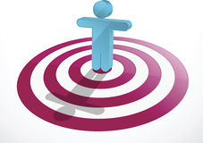 Vector image of a man as target Stock Images