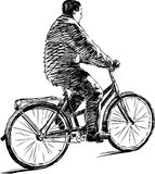 Man on a bicycle Royalty Free Stock Image