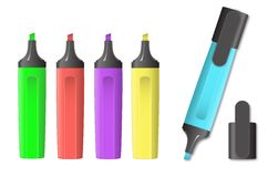 Vector image of markers Stock Photo