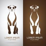 Vector image of an meerkats design Royalty Free Stock Photos