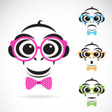 Vector image of a monkey wearing glasses Royalty Free Stock Photography