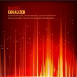 Multi color Audio waveform technology background Digital equalizer technology abstract Vector image. Vector image of Multi color Audio waveform technology Stock Photo