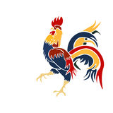 Vector Image multicolored coming rooster on a white background Royalty Free Stock Photos