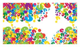 Vector image of multicolored question marks Royalty Free Stock Images