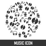 Vector image music icon. Silhoutte Royalty Free Stock Photo