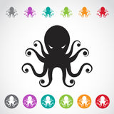 Vector image of an octopus royalty free illustration