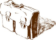 Briefcase. Vector image of the old briefcase stock illustration