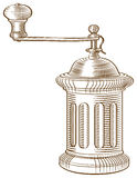 Coffee grinder old-fashioned Royalty Free Stock Photography