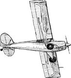Flying airplane. Vector image of a old flying plane vector illustration