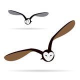 Vector image of an owl Royalty Free Stock Photos