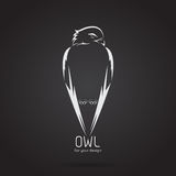 Vector image of a owl design on black background. Royalty Free Stock Photos