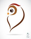 Vector image of an owl Stock Images