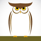 Vector image of an owl Stock Photos