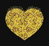 Stylized heart made of sequins. Symbol of lovers. Vector stock illustration