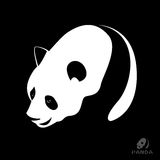 Vector image of a panda Stock Photo