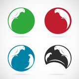 Vector image of an parrot design Royalty Free Stock Photos